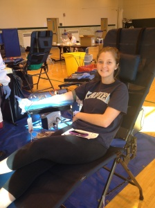 givin blood